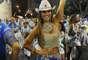 A modelo Nicole Bahls foi um dos destaques da Beija-Flor no ensaio na Sapucaí