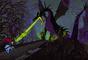 Basada en la figura de una culebra cascabel, el animador Eric Cleworth creó el dragón Maleicent para 'La Bella Durmiente' y marcó la estética oscura que de entonces en adelante adoptaría los estudios de cine. La escena de la lucha contra el príncipe es cruda y violenta como pocas.