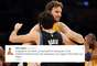 An injured Pau Gasol kept his Twitter timeline updated, writing about Rafael Nada's comeback, the Copa del Rey semifinals, and his friend Ricky Rubio making the NBA All-Stars.