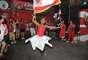 Quadra da Dragões da Real foi palco de muita festa; em 2012, escola havia ficado em sétimo lugar