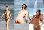 Ellen Jabour, Carol Narizinho e Renata Molinaro mostraram o corpão em forma ao curtirem um dia na praia