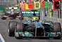 Destaque nos testes de pré-temporada, Mercedes ficou com o terceiro lugar graças a Nico Rosberg, apesar dos problemas de câmbio no segundo treino livre