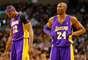 """Kobe y Dwight: Todo el mundo sabe que Kobe Bryant no juega limpio, y que Dwight Howard es un niño grande en el fondo, lo que hizo que este año su emparejamiento fuera interesante para el inevitable choque de personalidades. Kobe ha puesto en duda la dureza de Howard y criticó abiertamente al centro en cada oportunidad. La respuesta de Howard: """"Kobe no es médico""""."""