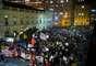 Passeata reuniu uma multidão nas principais vias do centro de Porto Alegre