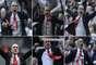 Paolo Di Canio, nuevo entrenador del Sunderland,celebra salvajemente la victoria sobre Newcastle.