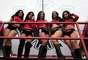 JORNADA 16: Lindas animadoras engalanaron el Estadio Miguel Hidalgo.