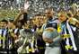 Jogadores do Botafogo fazem festa com a conquista da Taça Rio e, por consequência, do Campeonato Carioca
