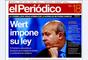 """'El Periódico' abre con foto del ministro de Educación, Wert y con el titular """"Wert impone su ley""""."""