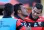 Ednei comemora gol do Atlético-GO na decisão do Campeonato Goiano