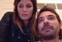 """Paula Chaves, con Pedro en su """"laboratorio"""""""