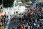 Protestos foram realizados antes do jogo entre México x Itália, o primeiro da Copa das Confederações no Maracanã