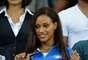 Fanny Neguesha, modelo belga e namorada do atacante italiano Mario Balotelli, se destacou na Arena Pernambuco, nesta quarta-feira (19), durante jogo entre Japão X Itália