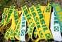 Torcedores do Brasil chegaram empolgados à Arena Castelão, nesta quarta-feira (19), para o jogo entre Brasil X México, válido pela primeira fase da Copa das Confederações. Inicialmente marcada para as 13h, a permissão de portões abertos ocorreu às 13h15, devido aos protestos que acontecem nos arredores do estádio