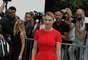 A atriz francesa Léa Seydoux, premiada no último festival de Cannes, apostou nas cores vivas para o desfile Dior