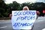 """Grupos organizados pelo Facebook pedem """"socorro"""" às Forças Armadas"""