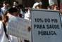31 de julho - Médicos realizam manifestação na Cinelândia no Rio de Janeiro