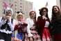 Alguns cosplayers se encontraram na avenida Paulista, nesse domingo (18), em frente a estação Trianon-Masp do metrô para exibir suas fantasias