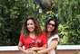 Daniela Mercury posou para fotos ao lado da namorada, Malu Verçosa, e atendeu jornalistas em Teresina, no Piauí