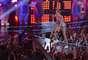 Um dos mais renomados eventos da música nos EUA, o VMA (Video Music Awards) teve sua edição de 2013 realizada na noite de domingo (26), no Barclay´s Center, em Nova York; na foto, a cantora Miley Cyrus