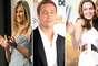 Brad Pitt trocou Jennifer Aniston por Angelina Jolie. Juntos, eles já têm seis filhos. O casal teria começado a se envolver no set de Sr. & Sra. Smith, enquanto Pitt estava casado com a estrela de Friends