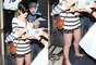 Anne Hathaway foi vista usando a sapatilha Campana Papel, da Melissa, no aeroporto de Los Angeles