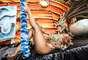 A apresentadora Gil Jung esteve no barracão da escola de samba paulistana Acadêmicos do Tatuapé, parte do Grupo Especial do Carnaval de São Paulo, e posou para um ensaio de fotos que a promove como rainha de bateria da agremiação, nesta segunda-feira (3)