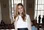 Depois de acompanhar de perto diversos desfiles da semana de moda de Nova York, Olivia Palermo foi direto para Londres, onde esteve na primeira fila do desfile de Emilia Wickstead. A semana de moda de Londres Outono-Inverno 2014 teve início na última sexta-feira (14), na Somerset House, e vai até a próxima terça-feira (18)