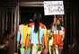 Desfile de Pam Hogg no Fashion Scout, durante a semana de moda de Londres