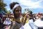 Bloco Rio Maracatu atraiu foliões e curiosos na tradicional praia carioca