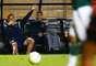 Goleiro Fernando Prass sentiu dores no tornozelo e precisou ser substituído