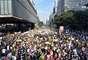 Os docentes bloquearam diversas vias durante manifestação
