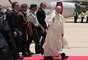 O avião do Papa Francisco pousou em Amã na manhã neste sábado, em sua primeira visita à região