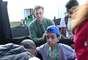 Apresentador global levou criança portadora de necessidas especiais para conhecer a Seleção