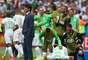 Slimani agradece em comemoração do gol que abriu o placar para a Argélia contra a Coreia do Sul em Porto Alegre