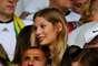 Sarah Brandner, namorada de Bastian Schweinsteiger,assiste ao jogo Brasil x Alemanha na arquibancada do Mineirão, em Belo Horizonte