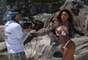 A latinete Aryane Nogueira gostou da ideia dos naturistas mas não ficou sem roupa durante a reportagem feita ao Terra