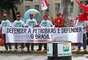 Recife - Ato foi convocado pelas centrais sindicais