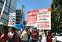 Salvador - Faixas protestam contra ações econômicas