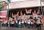No Vale do Anhangabaú, centro de SP, a CUT realiza marcha e missa campal