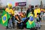Torcida festeja classificação do Brasil na Nova Zelândia
