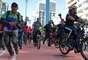 Prefeito de São Paulo, Fernando Haddad, participa da inauguração da ciclovia na Avenida Paulista