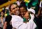 Brasil conseguiu medalhas de todo tipo no judô: ouro para Érika Miranda, prata para Felipe Kitadai e bronze para Nathália Brígida. Veja as melhores fotos do dia no tatame: