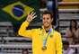 Tetracampeão pan-americano, Marcel comemora o ouro fazendo o número quatro