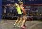 Jogadoras dos Estados Unidos e Canadá disputaram a categoria por equipes do squash nos Jogos Pan-Americanos