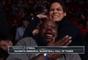 Shaquille O`Neal brincou com campeã Amanda Nunes durante UFC Houston