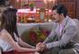 Cecília (Bia Arantes) diz a André (Bruno Lopes) que não quer se relacionar com ele e nem com Gustavo (Carlo Porto), na novela 'Carinha de Anjo'