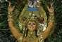 Vivi se vestiu de rainha-faraó para desfile da Salgueiro