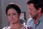 Haydee (Clarice Niskier) descobre que Flávio (Eduardo Pelizzari) é cúmplice de Leonardo (Daniel Alvim) em planos contra Gustavo (Carlo Porto) e Cecília (Bia Arantes) na novela 'Carinha de Anjo'