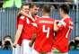Dzyuba fez de cabeça o terceiro gol da Rússia para cima da Arábia Saudita