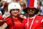 Torcida russa fez a festa no estádio Luzhniki, em Moscou